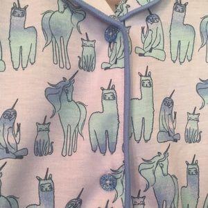 Unicorn Pajama Set Sloth Llama Caticorn Pajamas